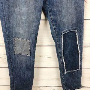 GAP Jeans - Gap Womens Sexy Boyfriend Light Wash Patchwork 28